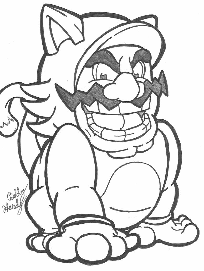 cat luigi coloring pages cat suit wario inked by th3antiguardian on deviantart pages coloring cat luigi