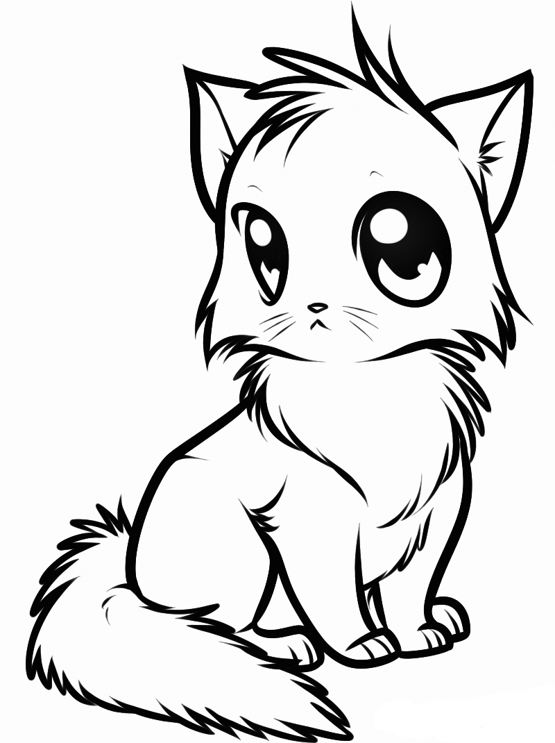 cat pictures to colour in kitten coloring pages colour to pictures cat in