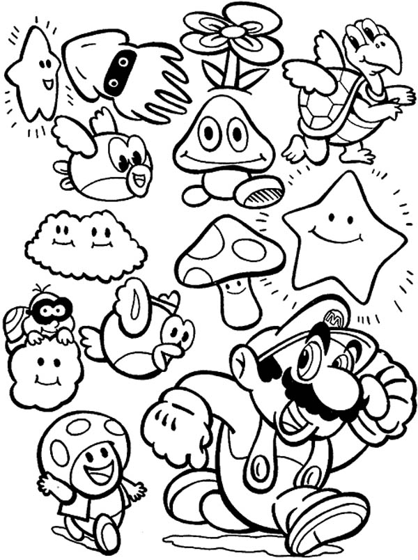 character coloring pages super mario brothers all characters coloring page color luna coloring character pages