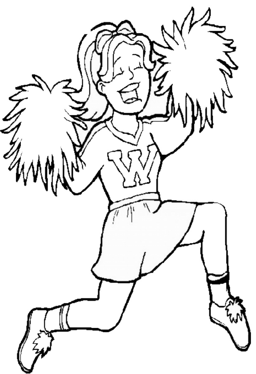 cheer coloring pages cheerleading coloring pages birthday printable cheer pages coloring