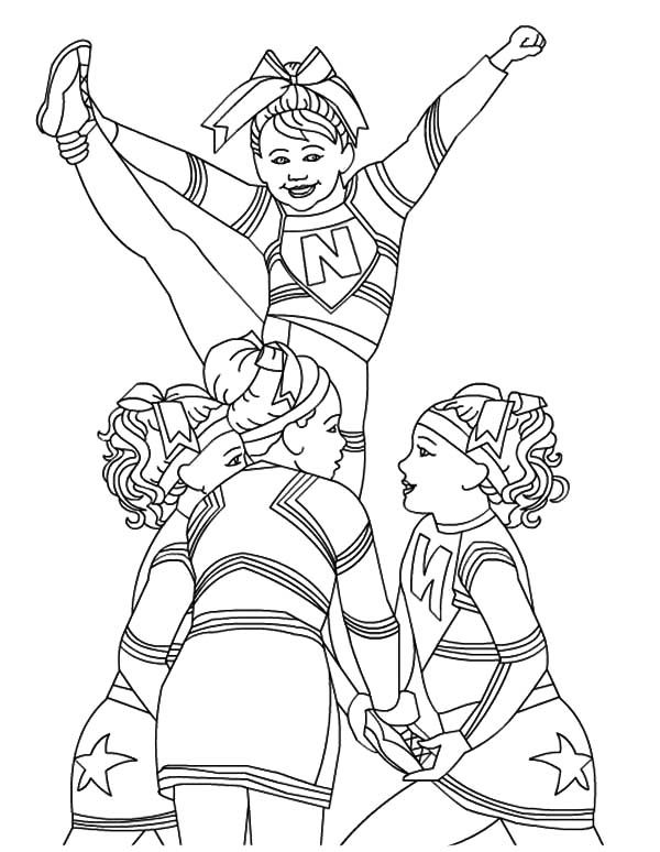 cheer coloring pages cheerleading coloring pages birthday printable coloring pages cheer