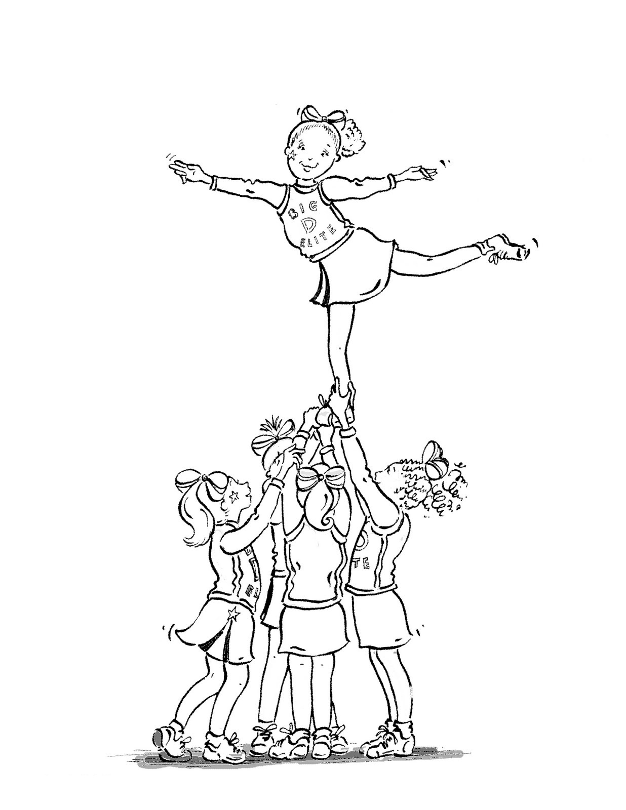 cheer coloring pages cheerleading coloring pages birthday printable pages cheer coloring
