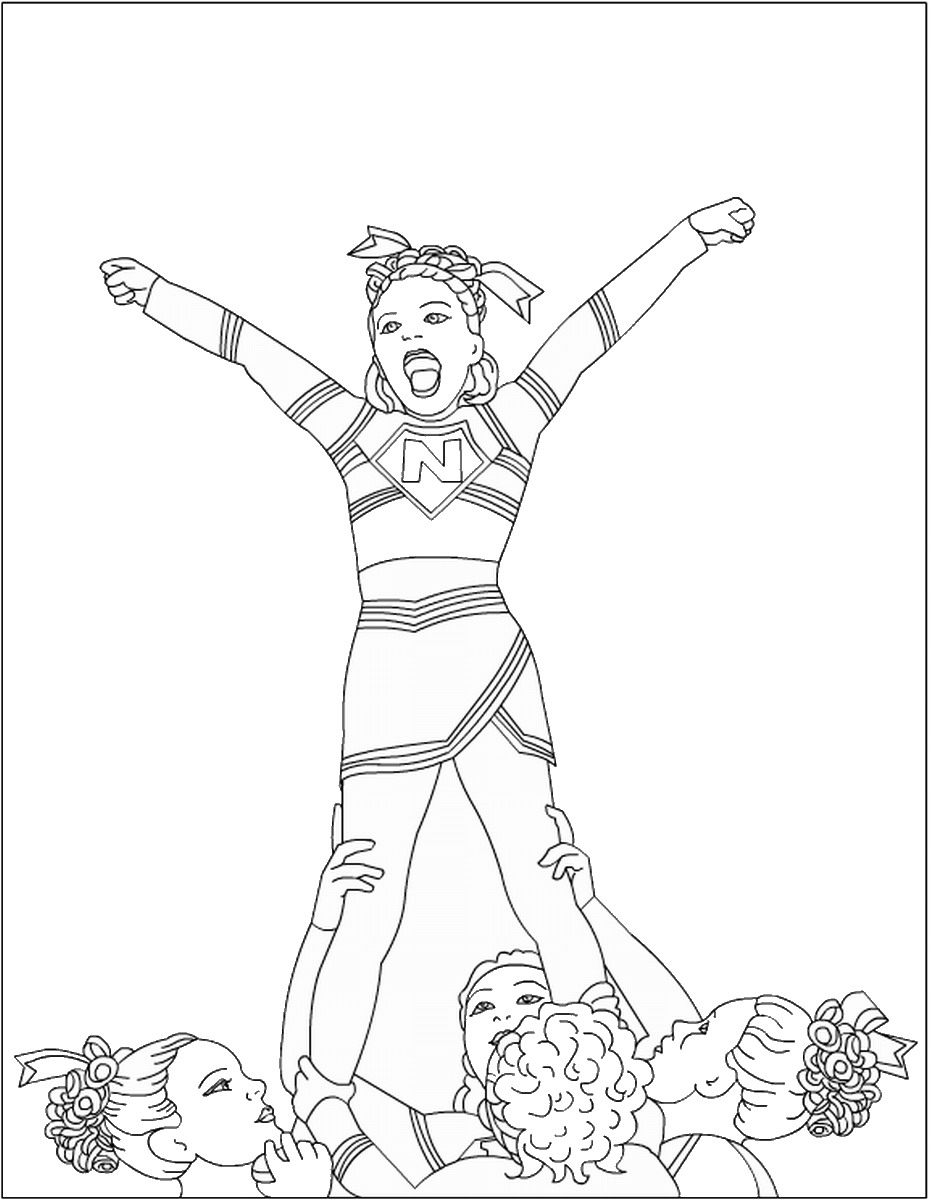 cheer coloring pages cheerleading coloring pages coloring pages cheer