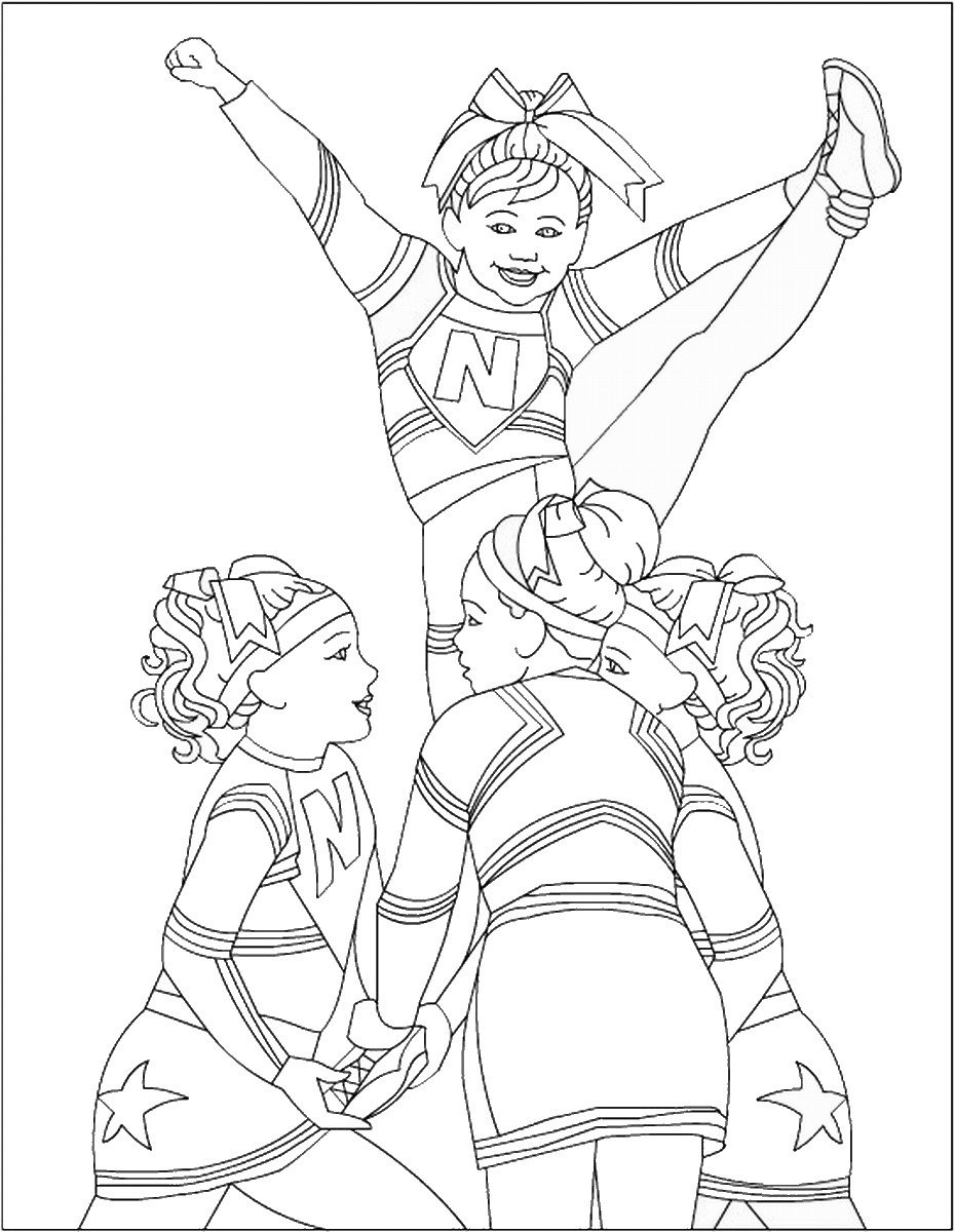 cheer coloring pages cheerleading coloring pages selfcoloringpagescom clip coloring cheer pages