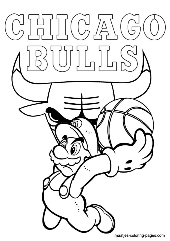 chicago bulls coloring pages chicago bulls logo drawing at getdrawings free download coloring bulls chicago pages