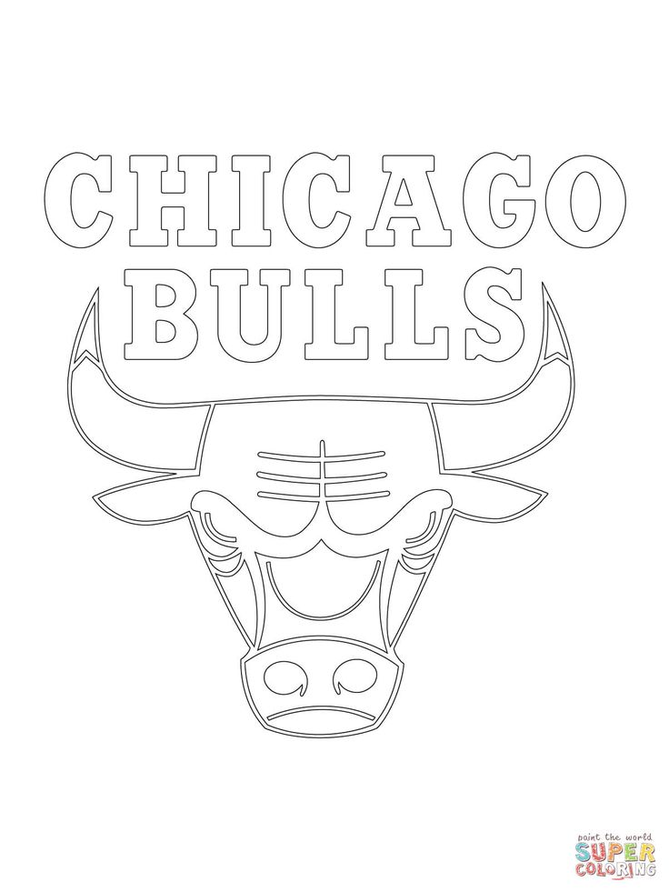chicago bulls coloring pages chicago bulls logo drawing at getdrawings free download coloring chicago pages bulls