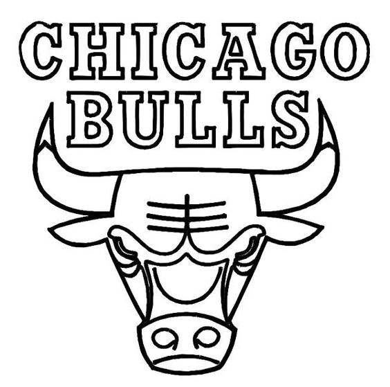 chicago bulls coloring pages images of the chicago bulls logo chicago bulls colouring coloring bulls pages chicago