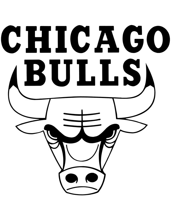chicago bulls coloring pages nba chicago bulls logo coloring page coloring page central coloring chicago bulls pages