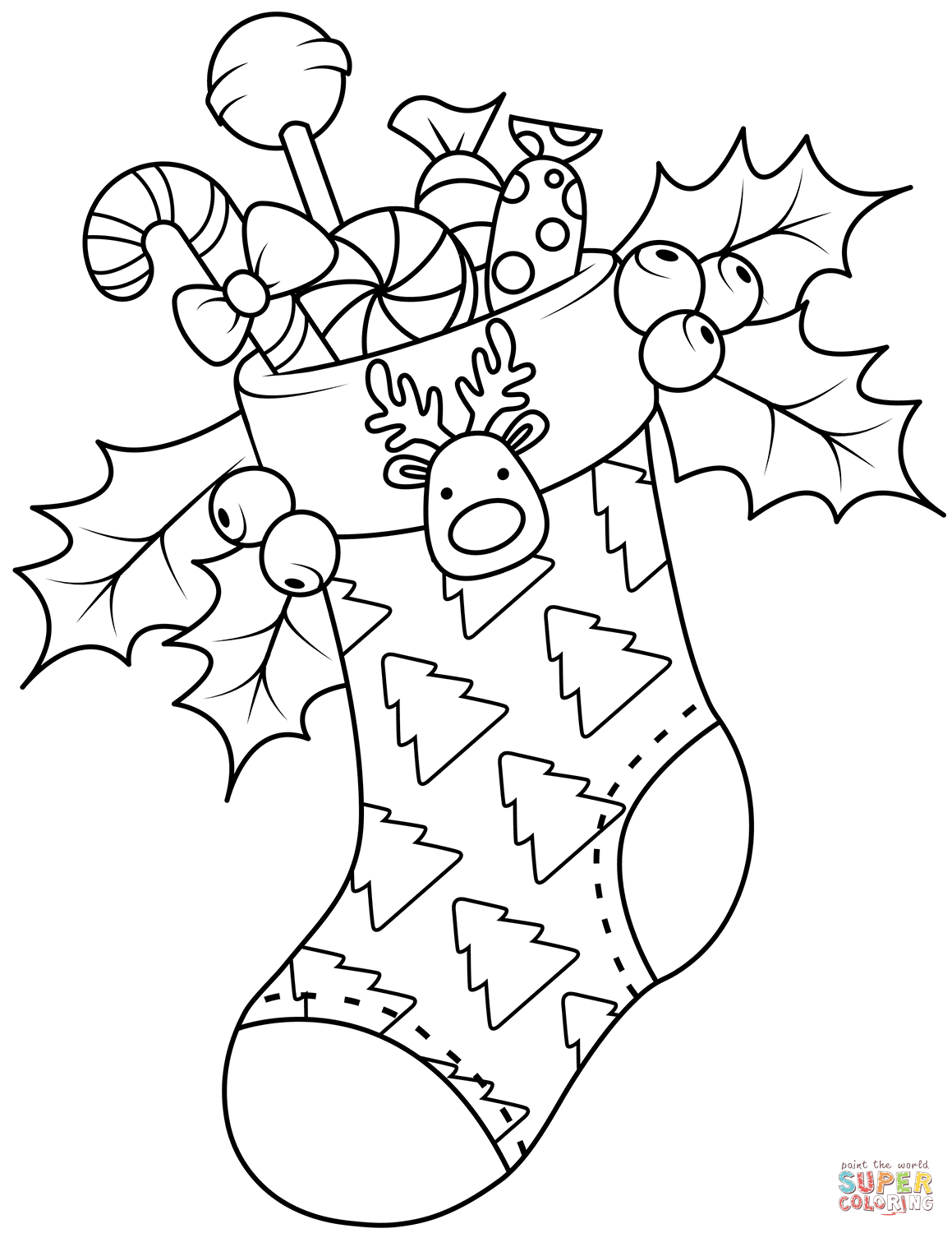 christmas coloring pages stocking a full packed of christmas stocking coloring page coloring pages stocking christmas