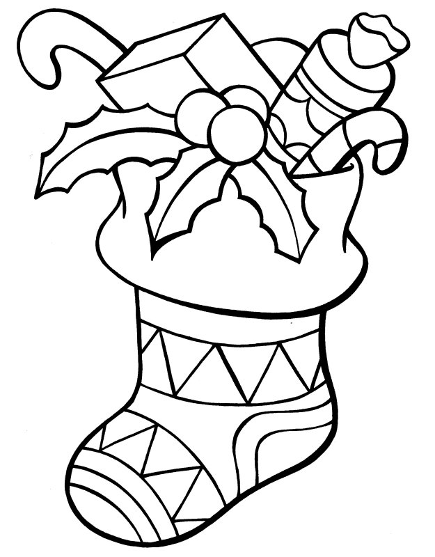 christmas coloring pages stocking christmas stocking and the gift coloring page coloring coloring christmas stocking pages