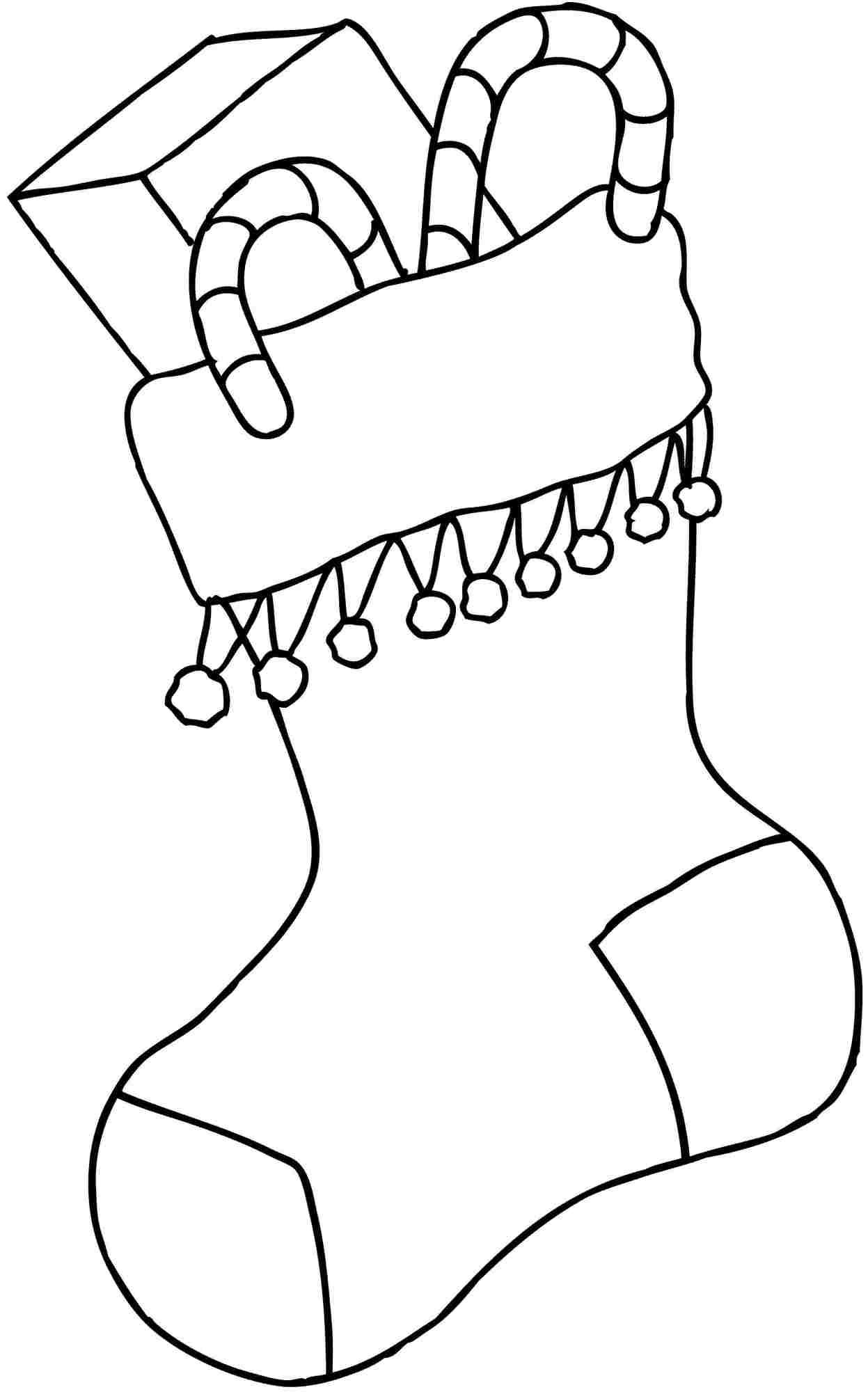 Christmas coloring pages stocking