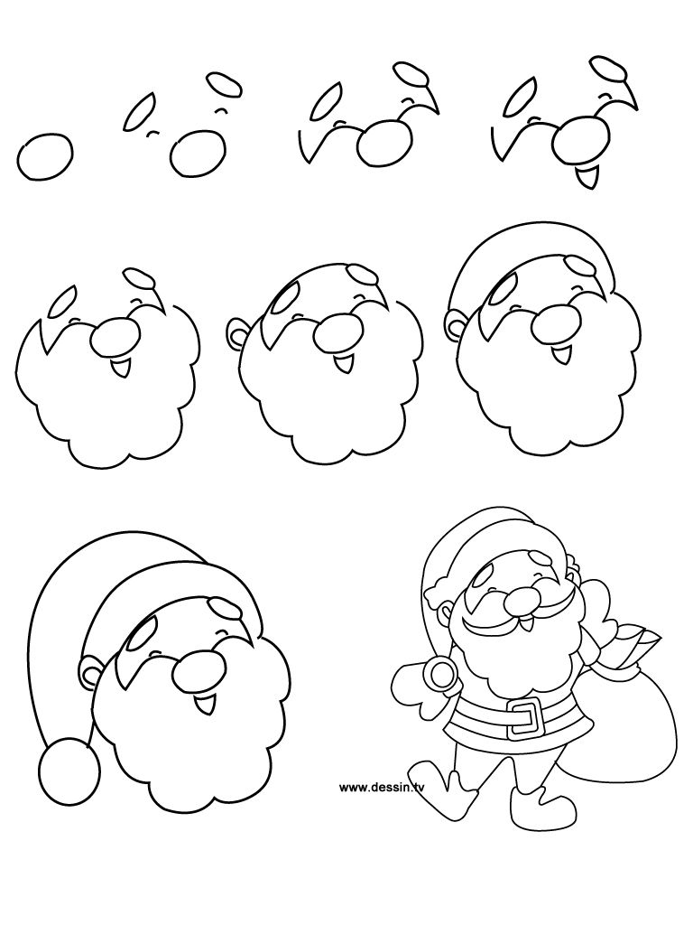 Christmas drawings step by step