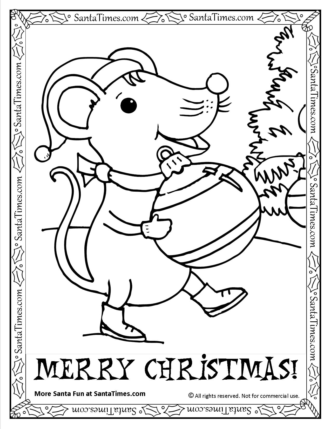 christmas mouse coloring pages merry christmas mouse printable coloring page christmas coloring mouse pages