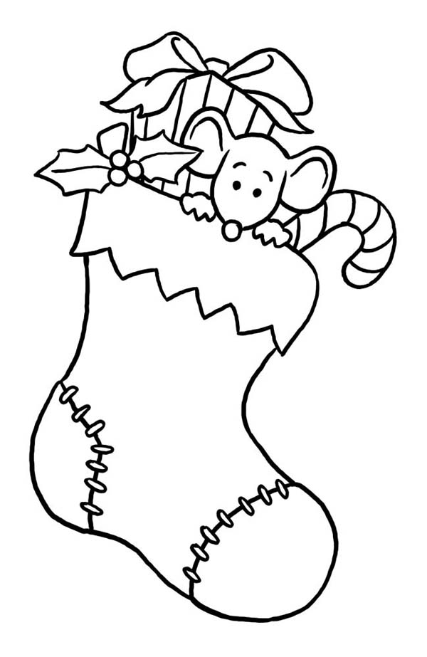 christmas mouse coloring pages tiny mouse hidding on christmas stocking on christmas christmas pages coloring mouse