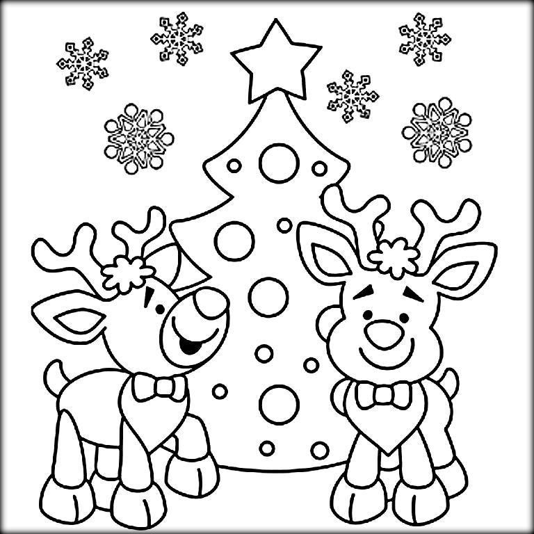 christmas reindeer coloring pages christmas rudolph reindeer coloring pages sketch coloring page coloring christmas pages reindeer