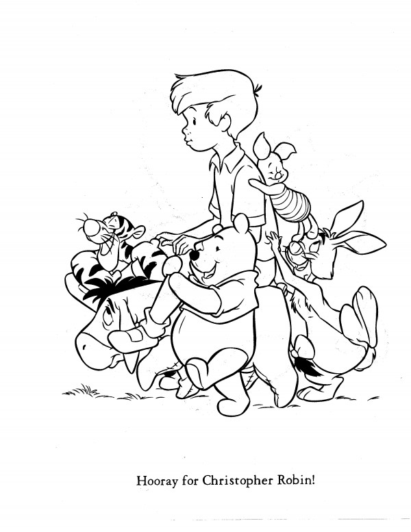 christopher robin coloring pages winnie the pooh hunny pot free winnie the pooh printables pages coloring christopher robin