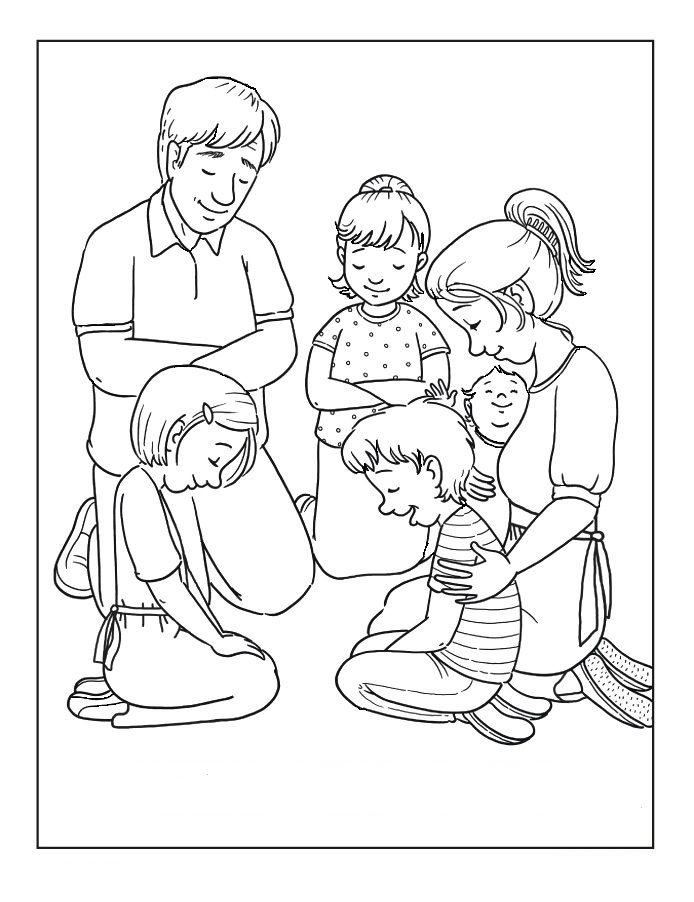 church family coloring pages lesson 3 4 worship bulletin board church family taking coloring family church pages