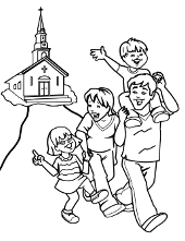 church family coloring pages this easter church coloring page shows a family going to family church coloring pages