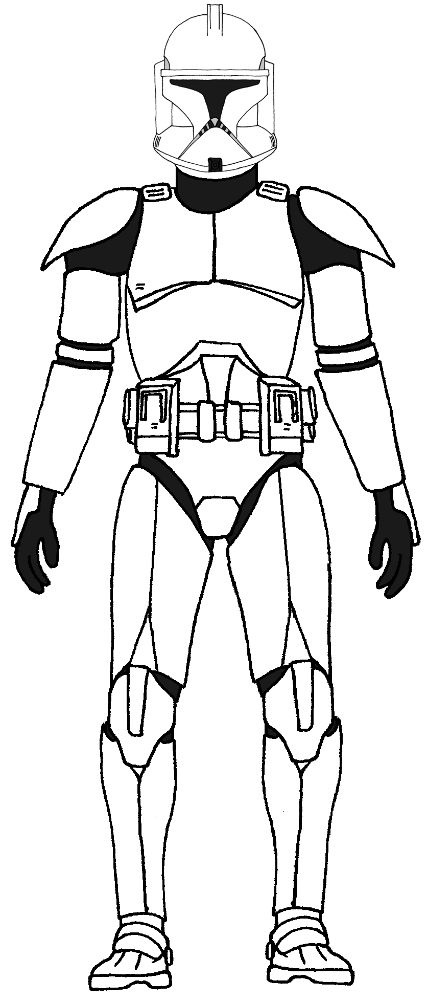 Clone trooper colouring pages
