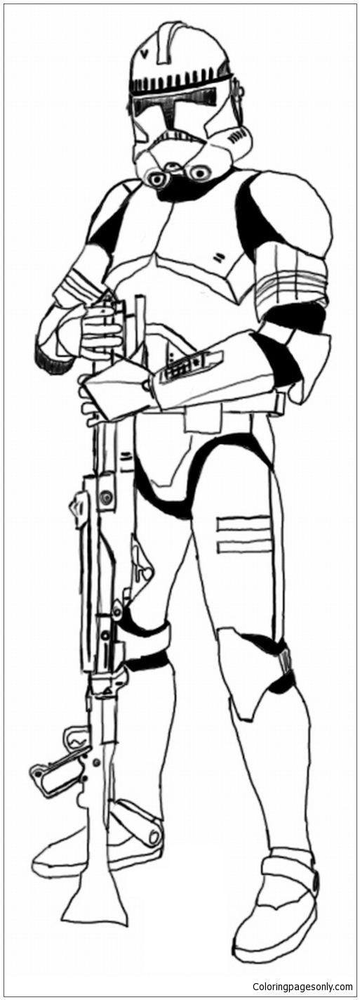clone trooper colouring pages the clone troopers standby in star wars coloring page clone pages trooper colouring