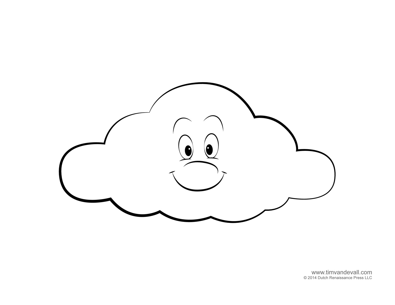 cloud coloring page weather for kids free cloud templates and weather cloud coloring page