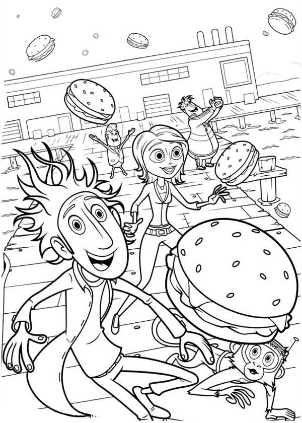 cloudy with a chance of meatballs 2 coloring pages cloudy with a chance of meatballs 2 coloring pages at coloring with a 2 of meatballs cloudy pages chance