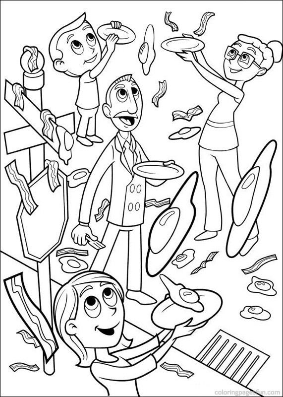 cloudy with a chance of meatballs 2 coloring pages cloudy with a chance of meatballs 2 coloring pages coloring 2 cloudy meatballs a of chance pages with