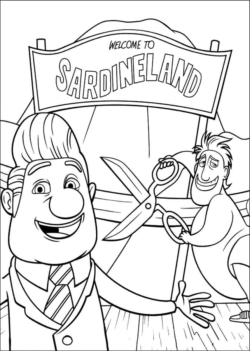 cloudy with a chance of meatballs 2 coloring pages cloudy with a chance of meatballs coloring pages coloring a chance cloudy of meatballs 2 pages with