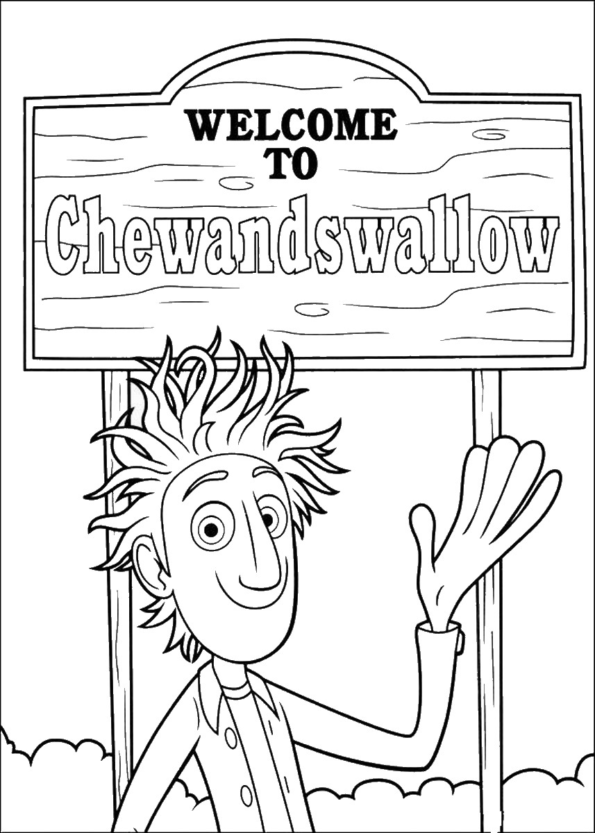 cloudy with a chance of meatballs 2 coloring pages cloudy with a chance of meatballs coloring pages for kids coloring 2 of chance cloudy a pages with meatballs