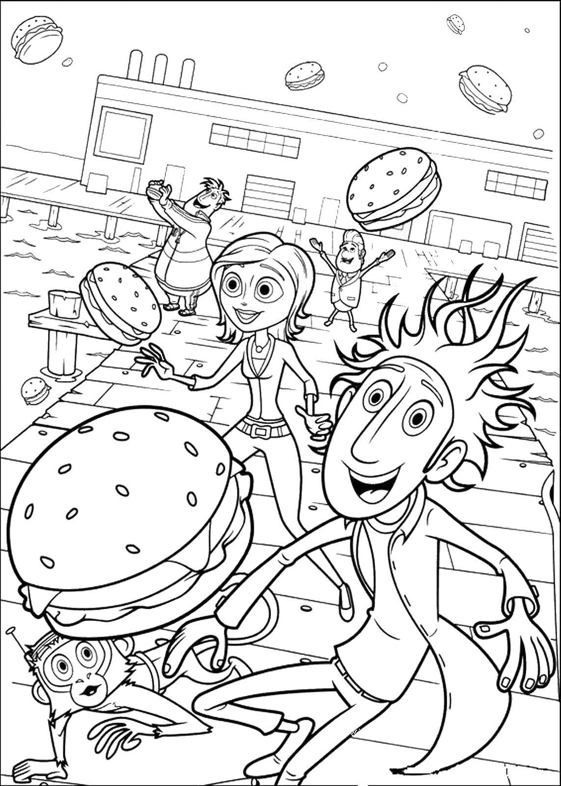 cloudy with a chance of meatballs 2 coloring pages cloudy with a chance of meatballs coloring pages for kids coloring meatballs chance 2 with of a pages cloudy