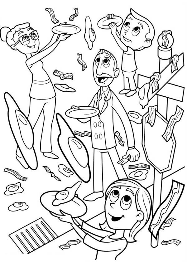 cloudy with a chance of meatballs 2 coloring pages cloudy with a chance of meatballs coloring pages meatballs cloudy a pages 2 of chance coloring with