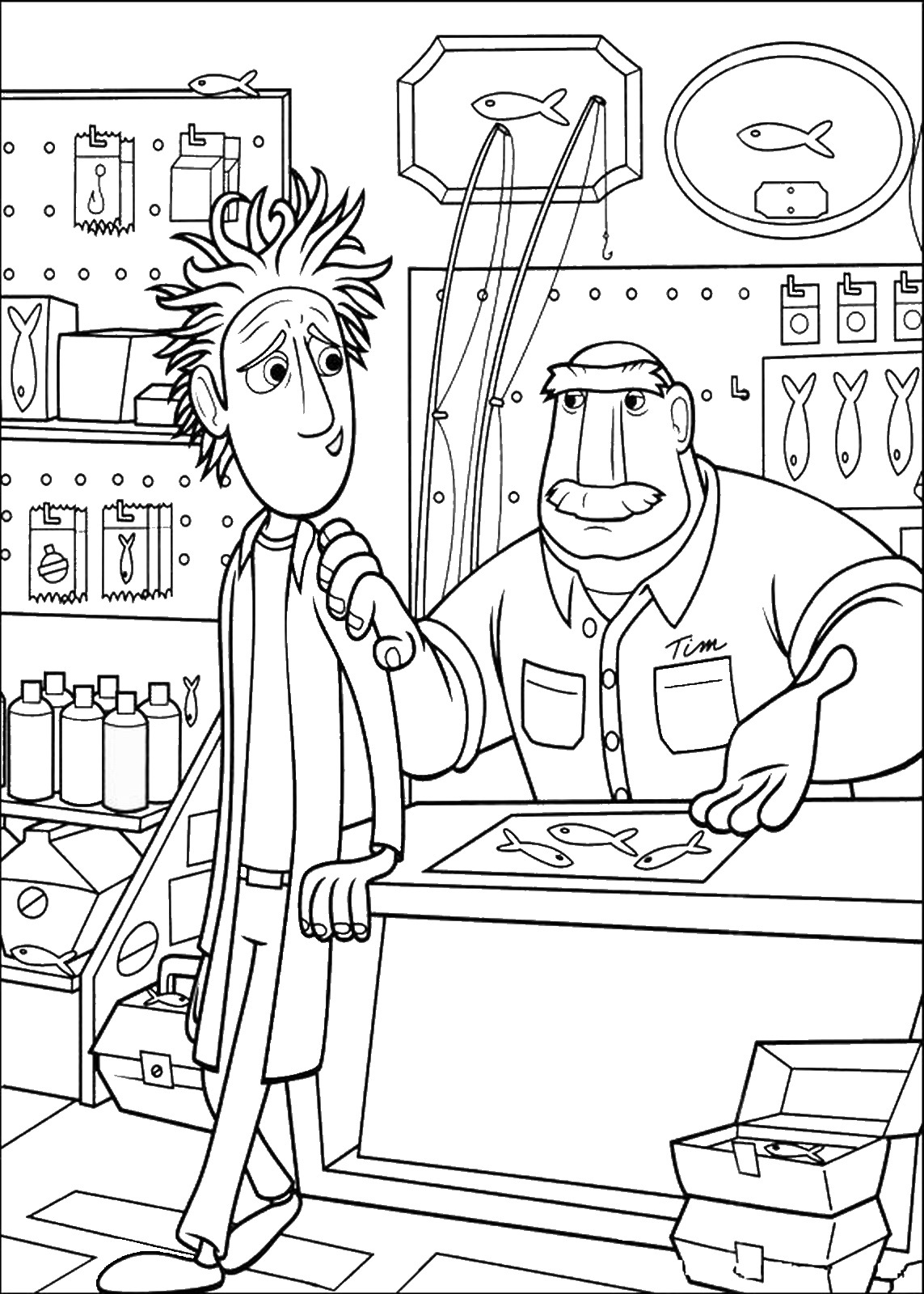 cloudy with a chance of meatballs 2 coloring pages cloudy with a chance of meatballs coloring pages meatballs of a cloudy chance pages coloring with 2