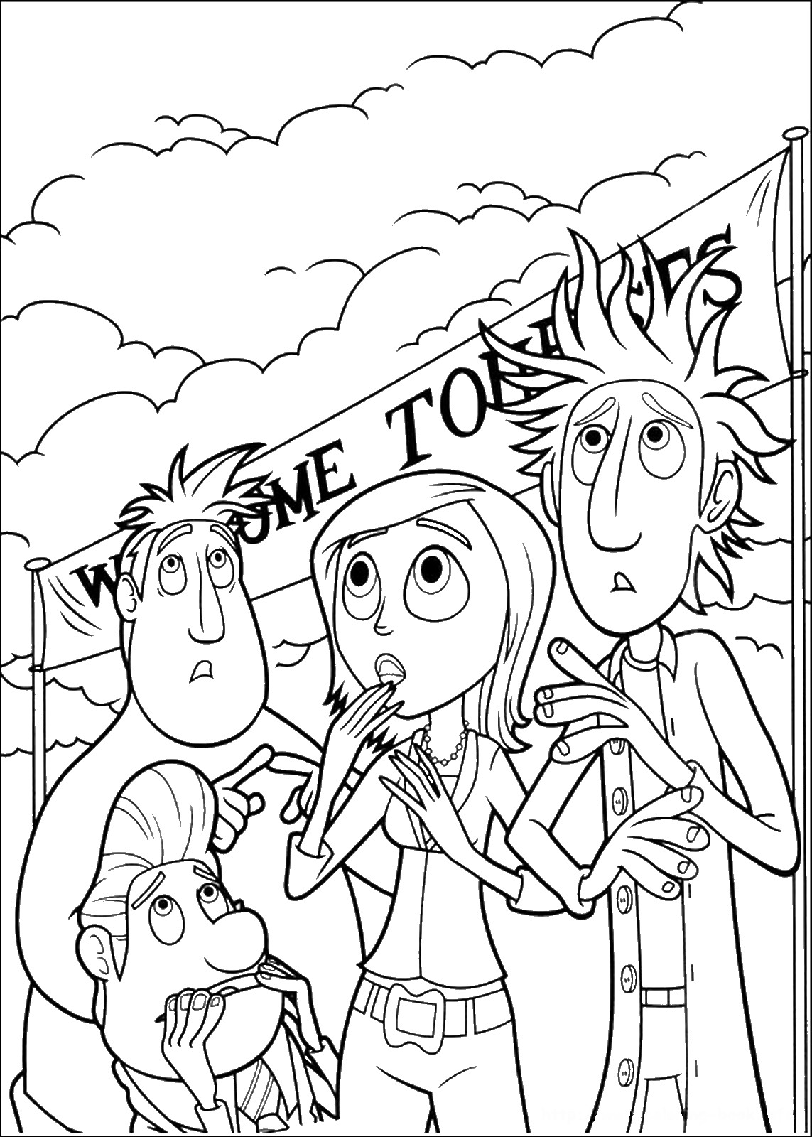cloudy with a chance of meatballs 2 coloring pages cloudy with a chance of meatballs coloring pages of 2 cloudy meatballs coloring with chance pages a