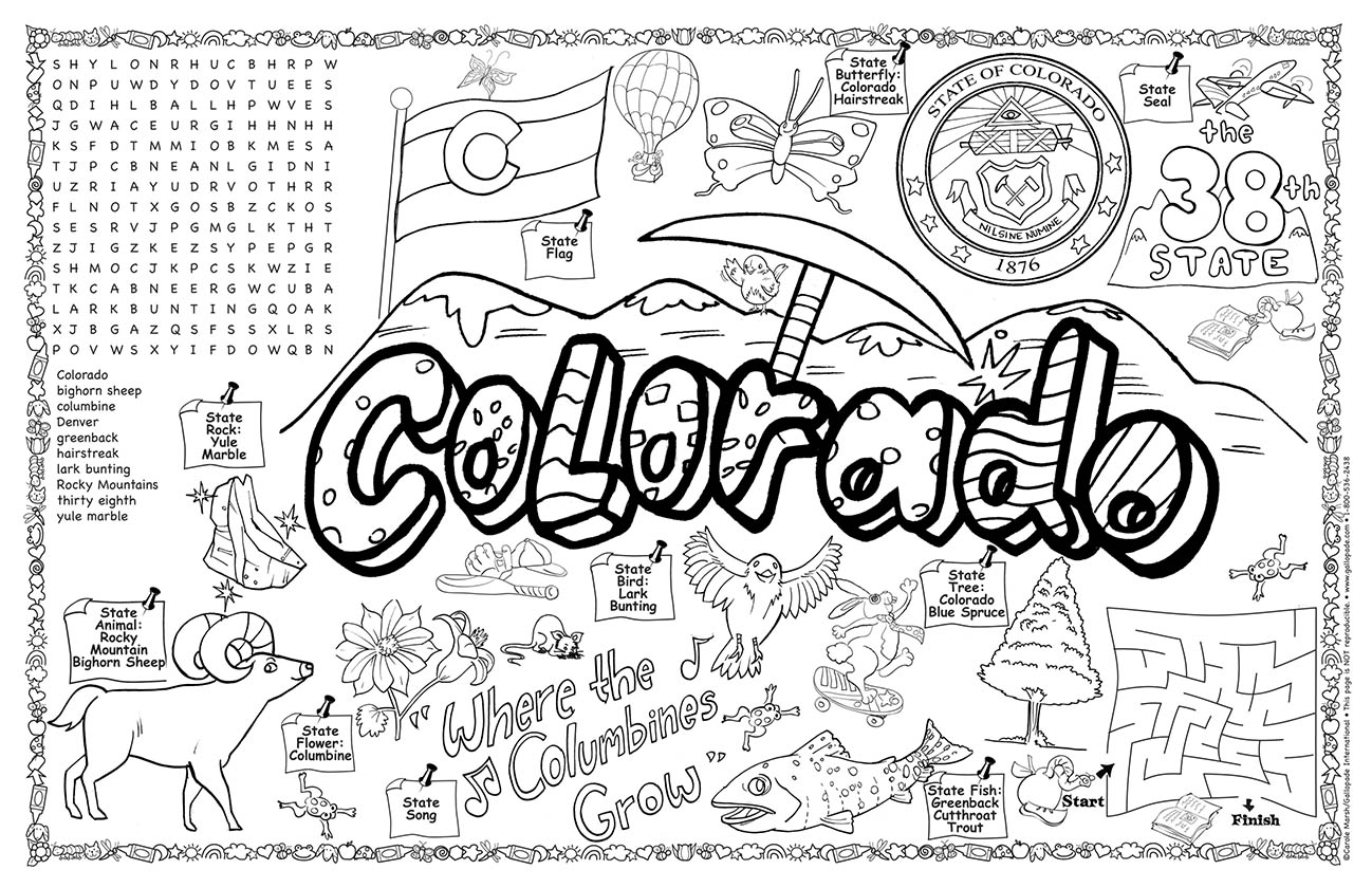 colorado symbols pictures awesome north dakota state seal coloring page top free colorado pictures symbols
