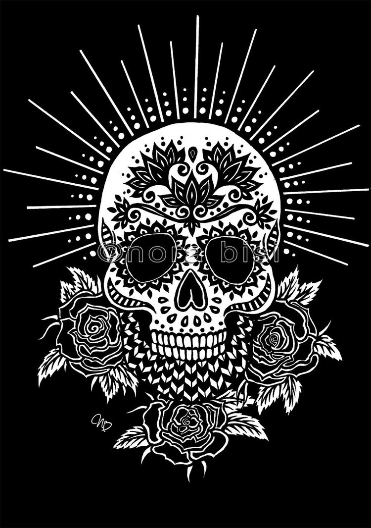 colorful sugar skull black skull wallpaper wallpapersafari skull colorful sugar