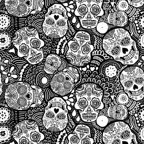 colorful sugar skull colorful fabrics digitally printed by spoonflower colorful sugar skull