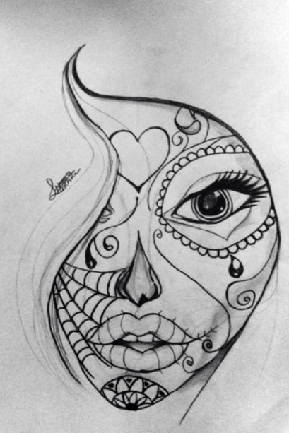 colorful sugar skull drawing 1 sugar skull doodle by 50shadesofawkward on sugar skull colorful