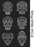 colorful sugar skull halloween illustration featuring colorful sugar skulls colorful skull sugar