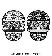 colorful sugar skull mexican sugar skull vector icon set of decorated skull colorful skull sugar