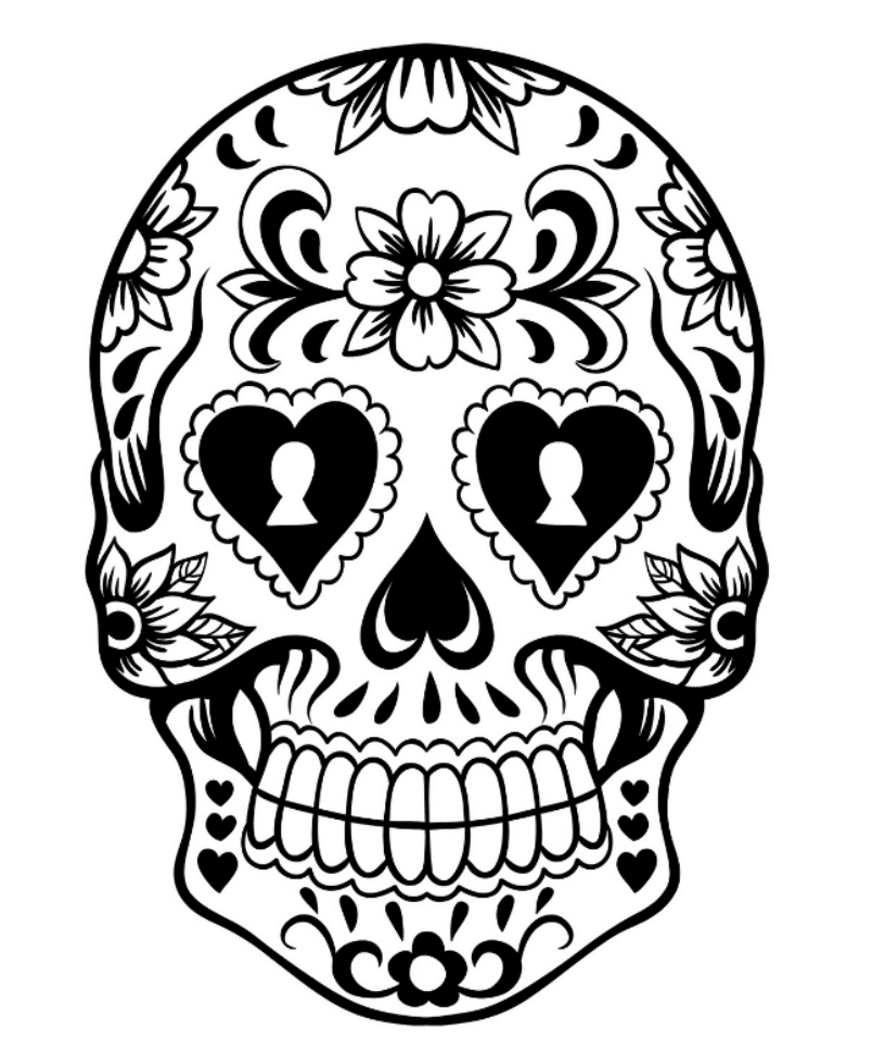 colorful sugar skull print download sugar skull coloring pages to have colorful sugar skull