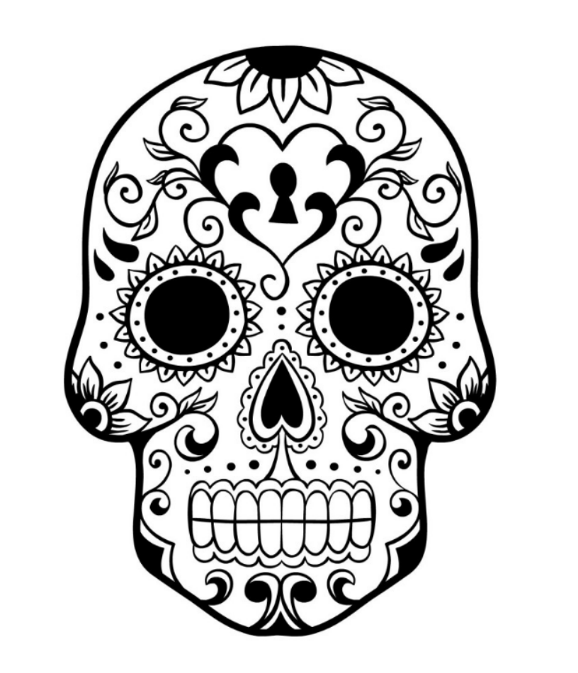colorful sugar skull simple sugar skull coloring pages skull coloring pages colorful sugar skull