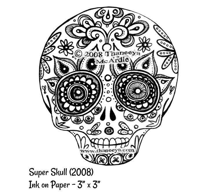 colorful sugar skull sugar skull art colorful day of the dead art by thaneeya colorful sugar skull