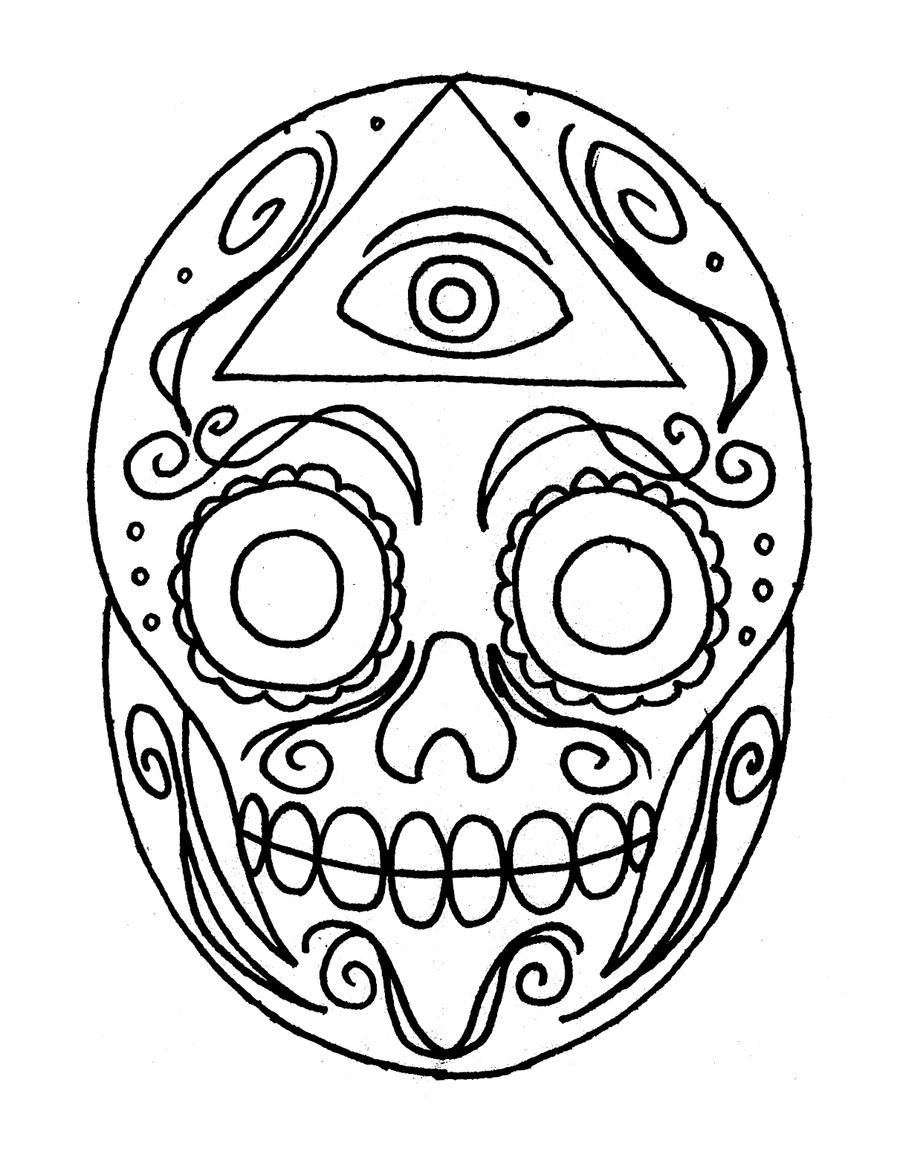 colorful sugar skull sugar skull by ckirkillustr8 on deviantart colorful skull sugar
