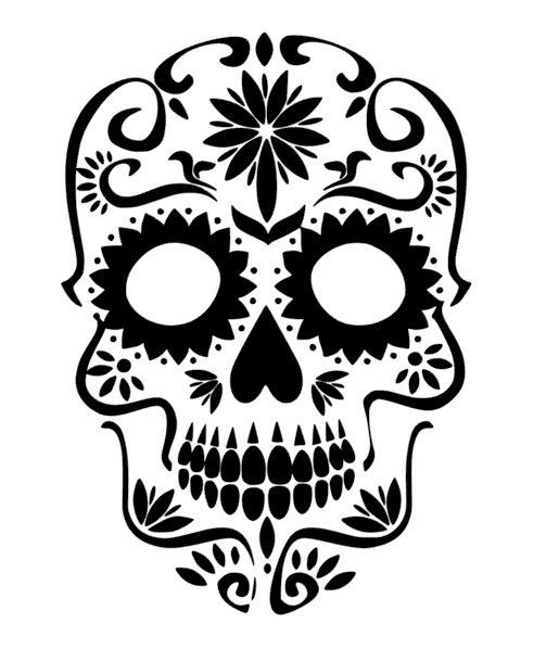 colorful sugar skull sugar skull heart nose vinyl sticker decal unbranded sugar colorful skull