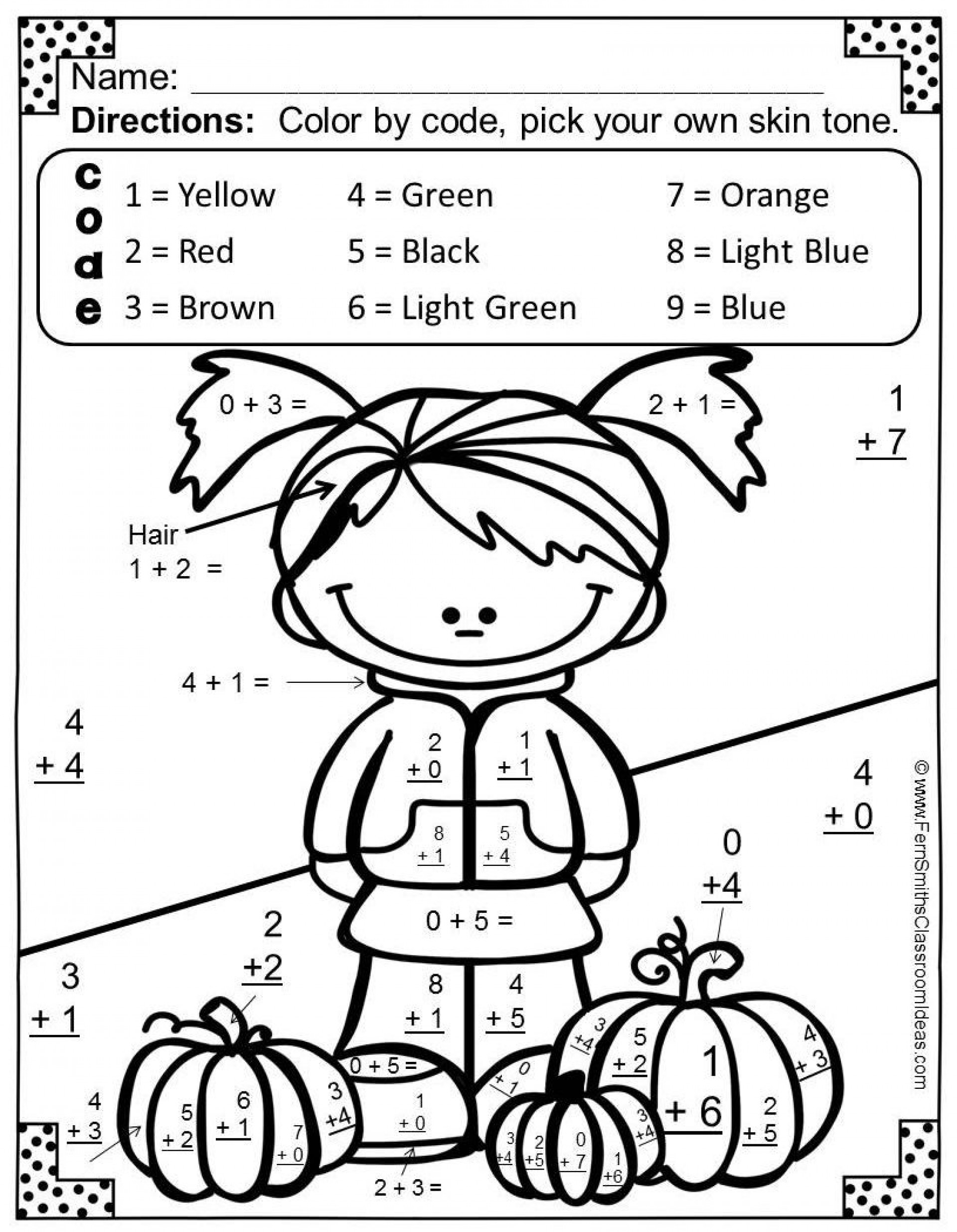 coloring activity for grade 1 math addition coloring worksheets for first grade coloring activity 1 for grade