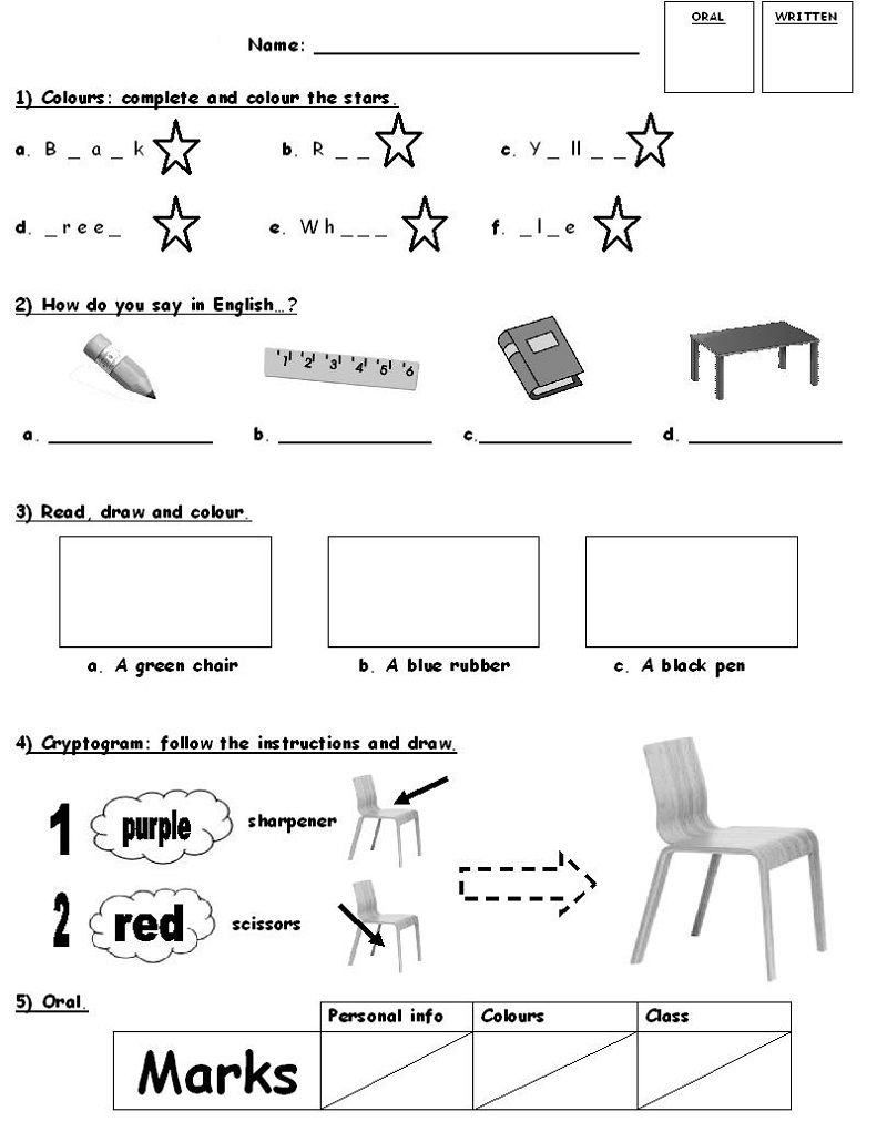coloring activity for grade 1 number 1 one handwriting worksheet preschool level with an grade coloring 1 for activity
