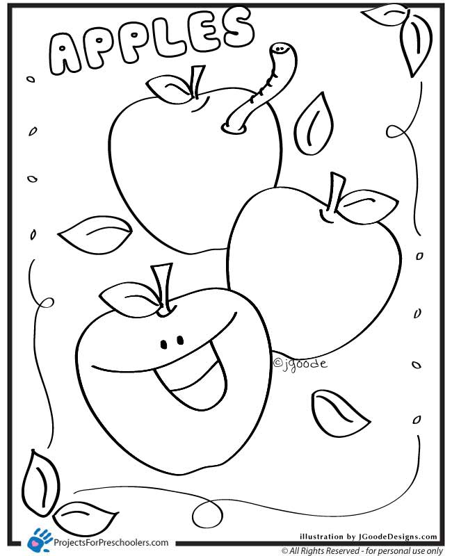 coloring apple craftsactvities and worksheets for preschooltoddler and apple coloring
