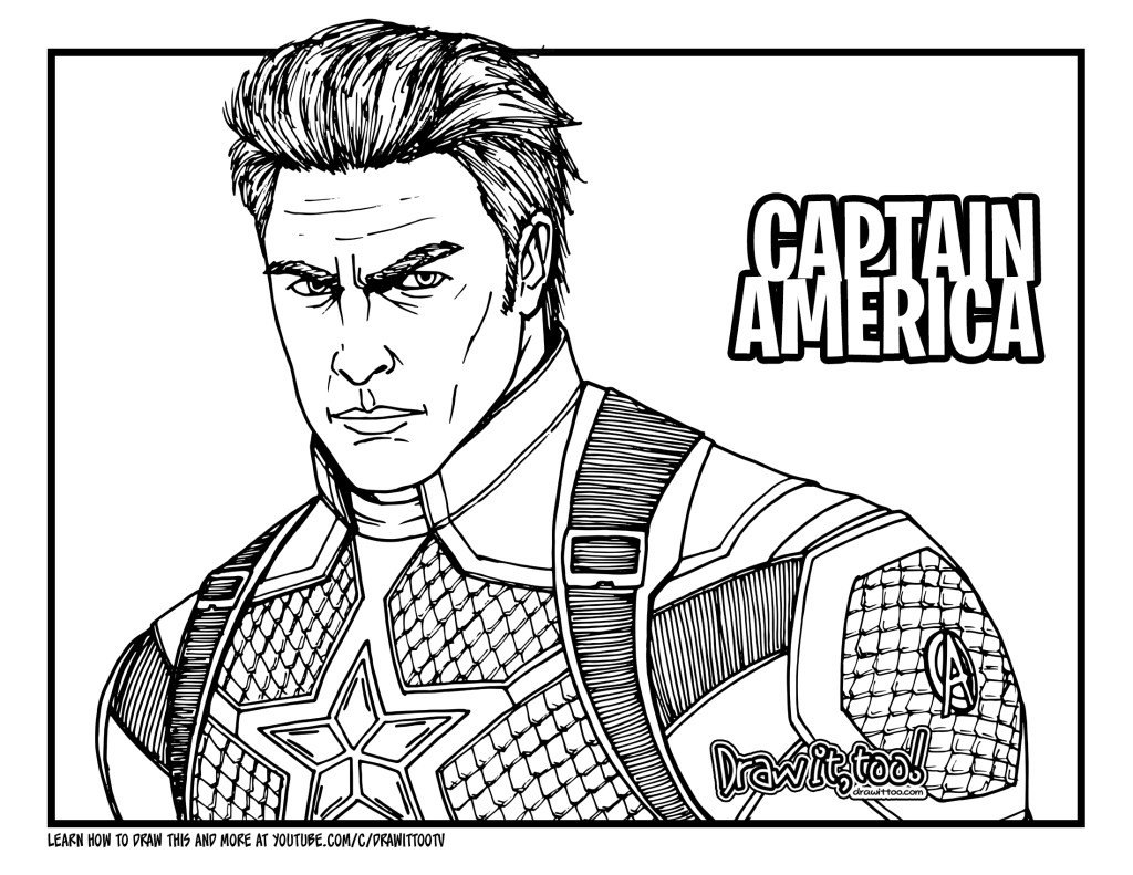 coloring avengers endgame drawing how to draw captain america avengers endgame drawing avengers drawing endgame coloring