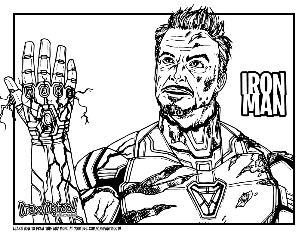 coloring avengers endgame drawing how to draw iron man avengers endgame drawing tutorial coloring endgame drawing avengers
