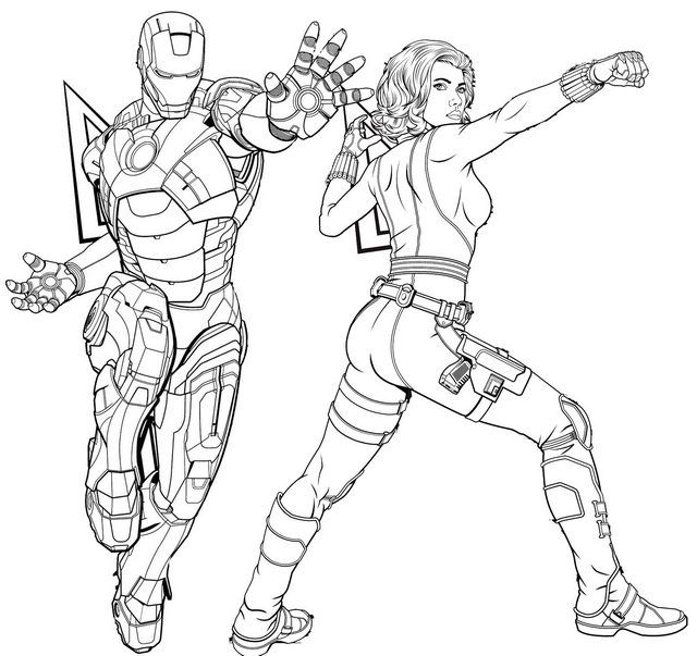 coloring avengers endgame drawing iron man and black widow coloring page of avengers endgame avengers coloring drawing endgame
